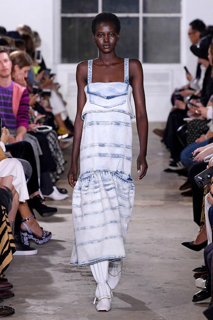Model on the catwalkProenza Schouler show, Runway, Spring Summer 2019, New York Fashion Week, USA - 10 Sep 2018