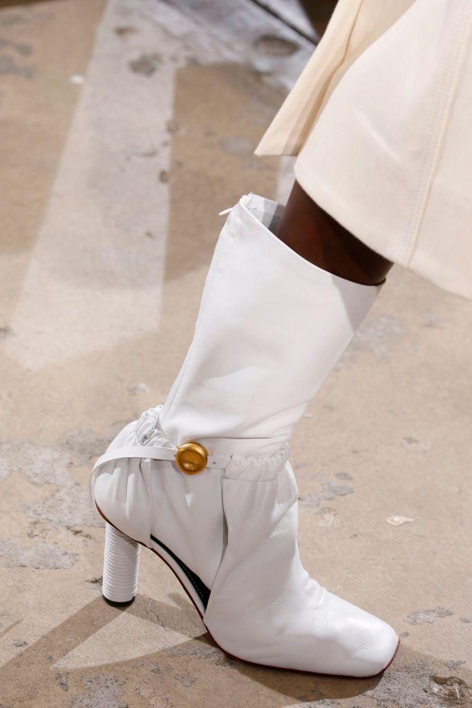 Model on the catwalk, shoe detailProenza Schouler show, Detail, Spring Summer 2019, New York Fashion Week, USA - 10 Sep 2018