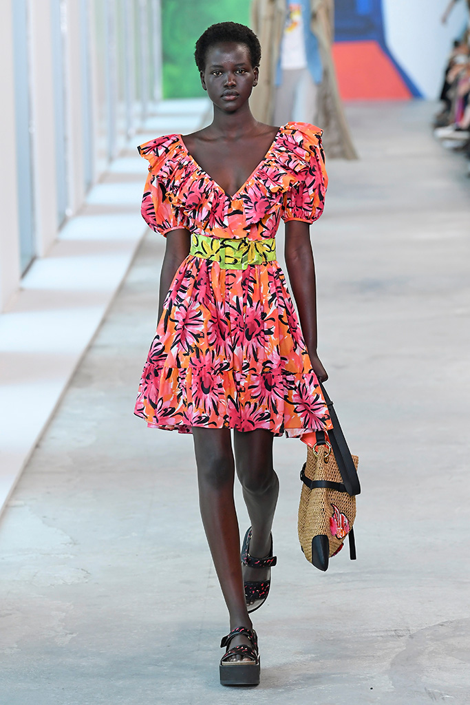 Model on the catwalk Michael Kors show, Runway, Spring Summer 2019, New York Fashion Week, USA - 12 Sep 2018