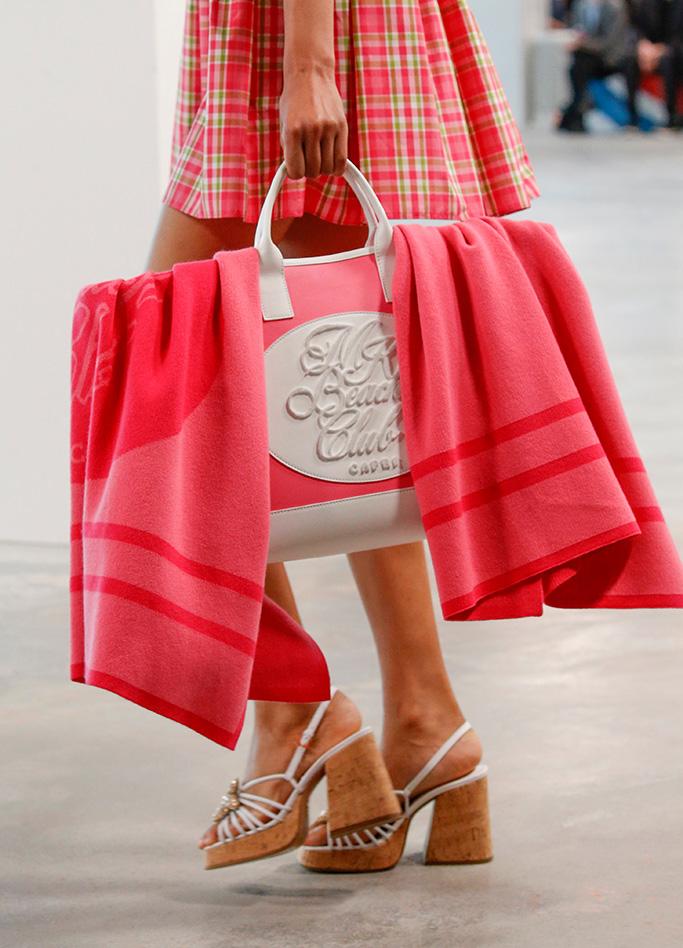 Model on the catwalk, bag detailMichael Kors show, Details, Spring Summer 2019, New York Fashion Week, USA - 12 Sep 2018