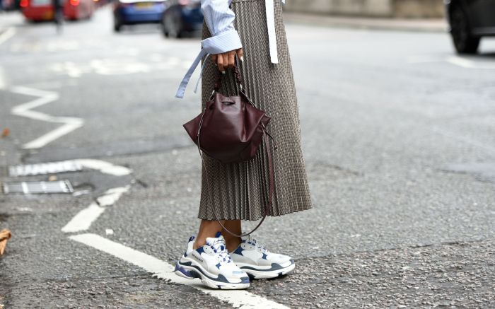 Vicky Lee wearing BalenciagaStreet Style, Spring Summer 2019, London Fashion Week, UK - 14 Sep 2018