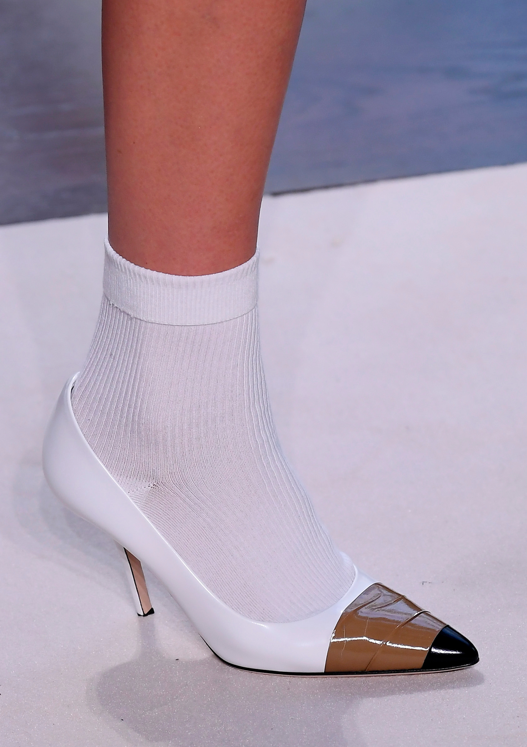 Model on the catwalk, shoe detailBurberry show, Detail, London Fashion Week, UK - 17 Sep 2018