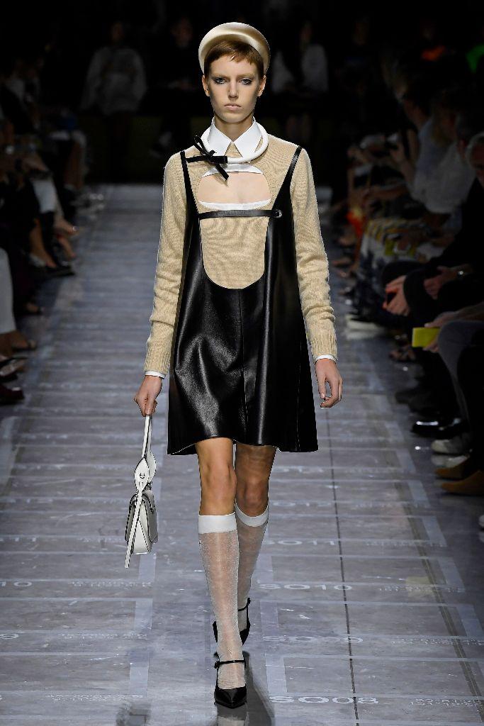 prada spring 2019 mary janes baby doll dress trend