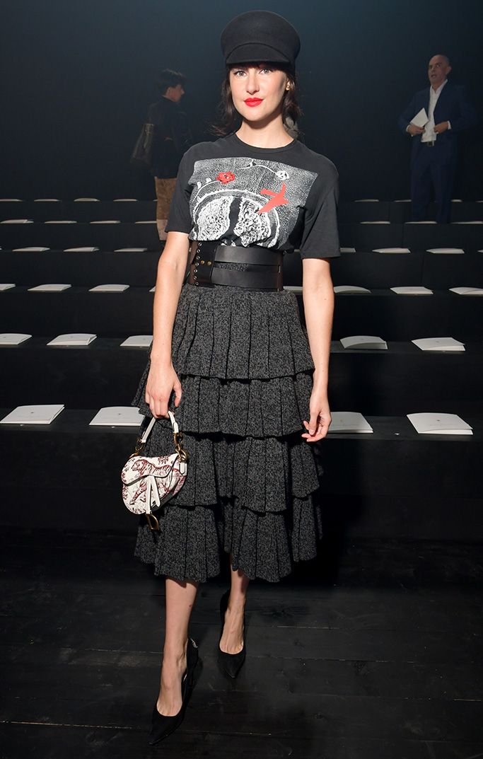 Shailene Woodley in the front rowChristian Dior show, Front Row, Spring Summer 2019, Paris Fashion Week, France - 24 Sep 2018