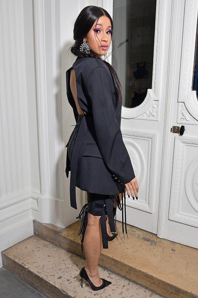 Cardi B in the front row Mugler show, Front Row, Spring Summer 2019, Paris Fashion Week, France - 26 Sep 2018WEARING MUGLER