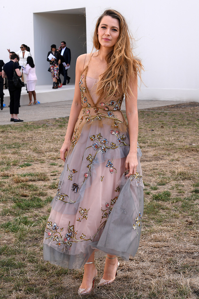 Blake Lively in the front rowChristian Dior show, Front Row, Spring Summer 2019, Paris Fashion Week, France - 24 Sep 2018WEARING DIOR SAME OUTFIT AS CATWALK MODEL *9439367bh AND Zhao Liying