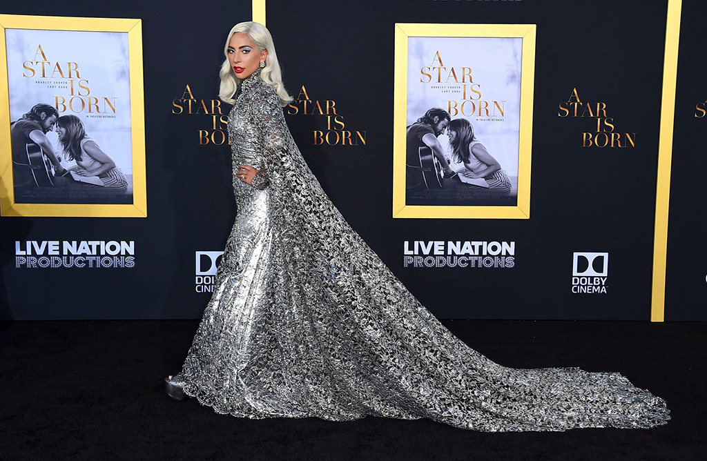 """Lady Gaga arrives at the Los Angeles premiere of """"A Star Is Born"""", at the Shrine AuditoriumLA Premiere of """"A Star Is Born"""", Los Angeles, USA - 24 Sep 2018"""