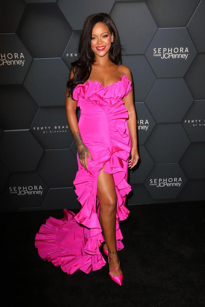 Rihanna, fenty beauty, red carpet, sephora, calvin klein, olgana paris