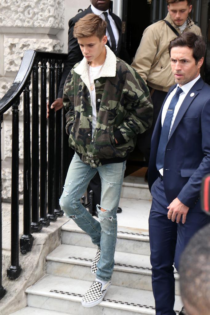 Romeo Beckham, spring 2019 victoria beckham london fashion week