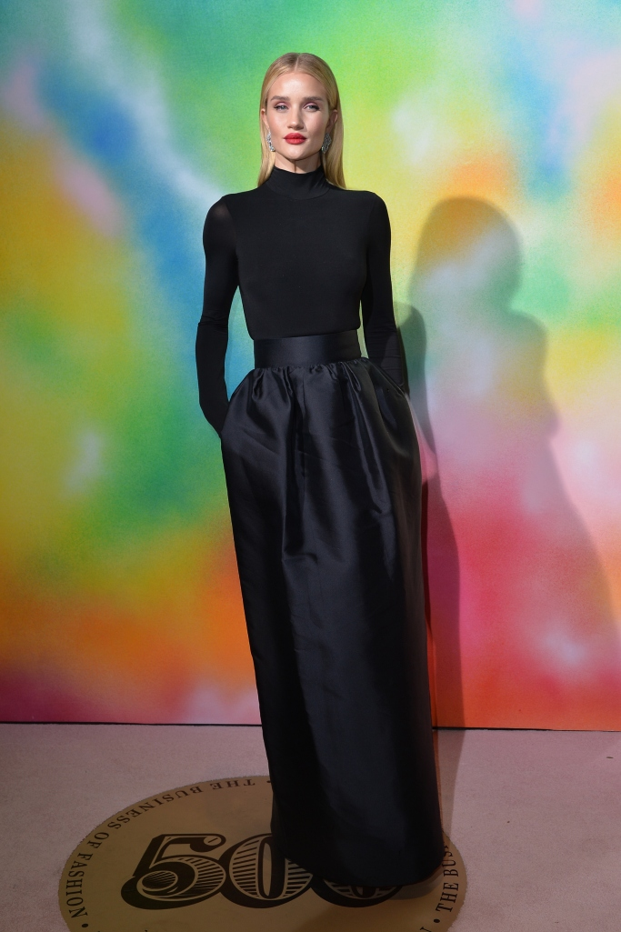 Rosie Huntington-Whiteley, the row, jimmy choo, bof 500 gala, new york fashion week