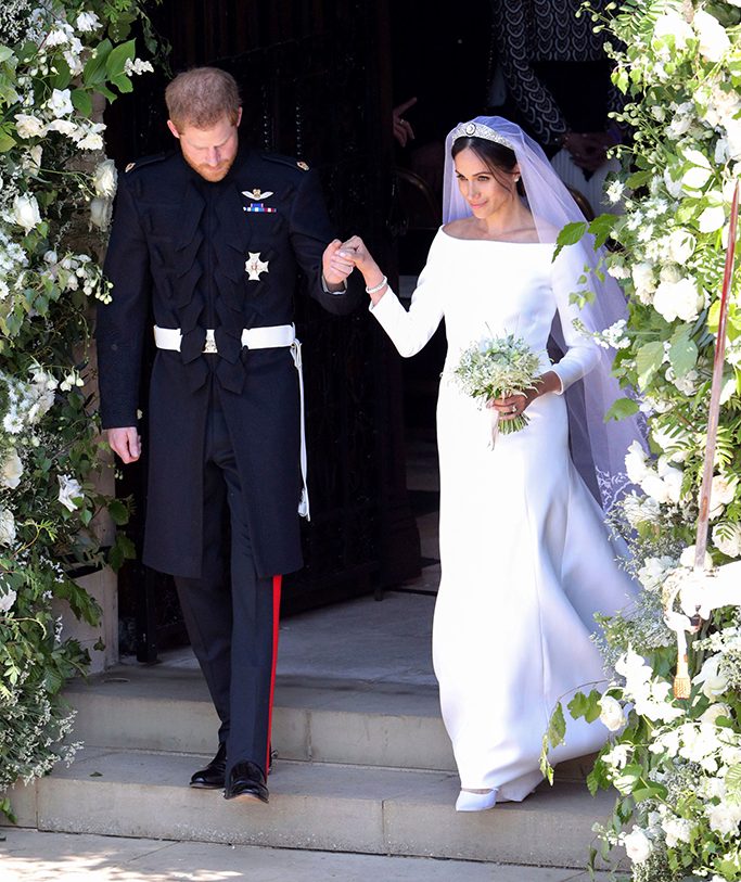 Prince Harry and Meghan Markle leave after their wedding ceremony at St. George's Chapel in Windsor Castle in Windsor, near London, EnglandBritain Royal Wedding, Windsor, United Kingdom - 19 May 2018