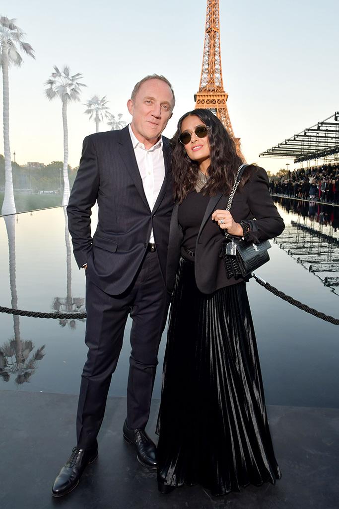Francois-Henri Pinault and Salma HayekSaint Laurent show, Front Row, Spring Summer 2019, Paris Fashion Week, France - 25 Sep 2018