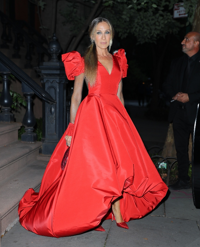 sarah jessica parker, red gown