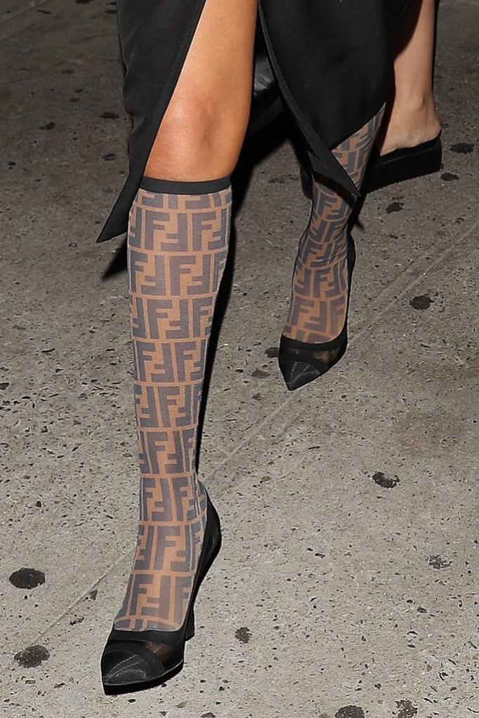 selena gomez, fendi sock boots, legs