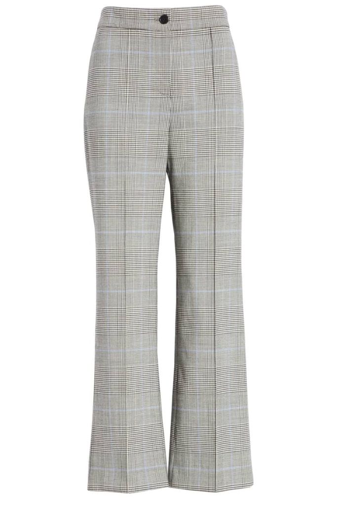 theory checked trousers fashion sneakers how to wear fall 2018