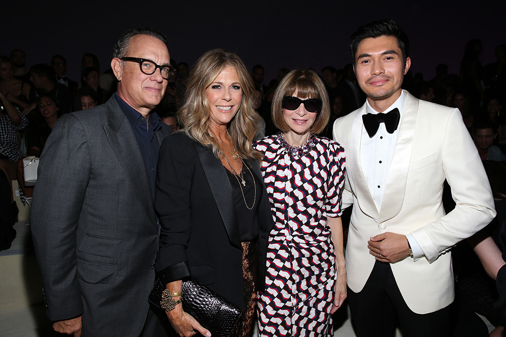 Tom Hanks, Rita Wilson, Anna Wintour and Henry Golding in the front rowTom Ford show, Front Row, Spring Summer 2019, New York Fashion Week, USA - 05 Sep 2018
