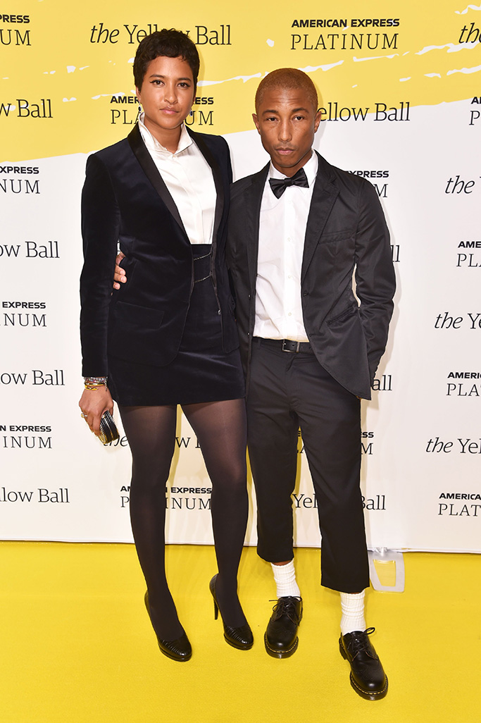 Helen Lasichanh and Pharrell WilliamsThe Yellow Ball, Arrivals, New York, USA - 10 Sep 2018