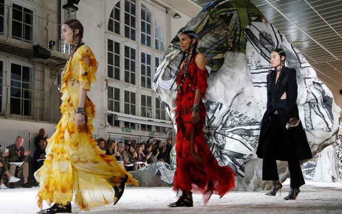 Alexander McQueen show, Runway, Spring Summer 2019, Paris Fashion Week, France - 01 Oct 2018