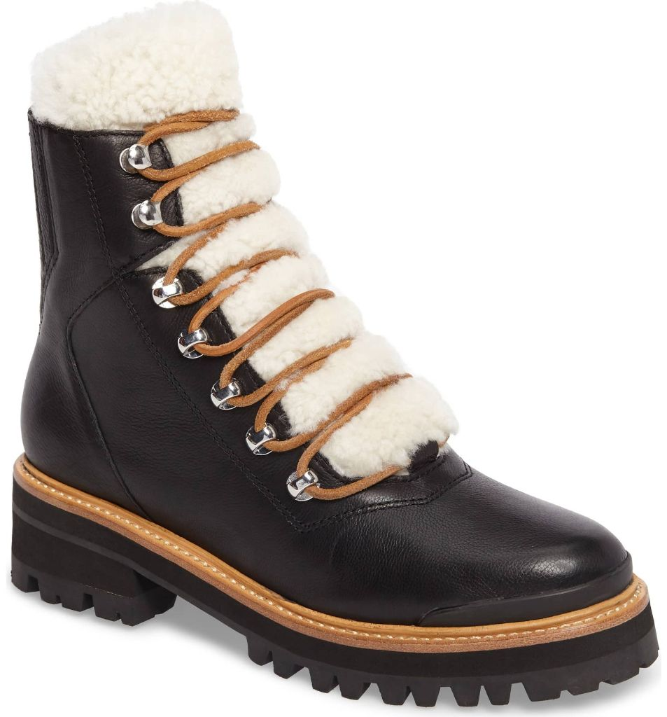 apres ski boots marc fisher shearling izzie boot