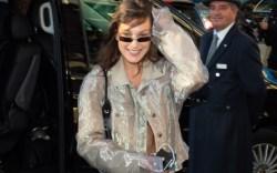 bella hadid, paris fashion week