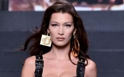 Bella Hadid Moschino x H&M show,