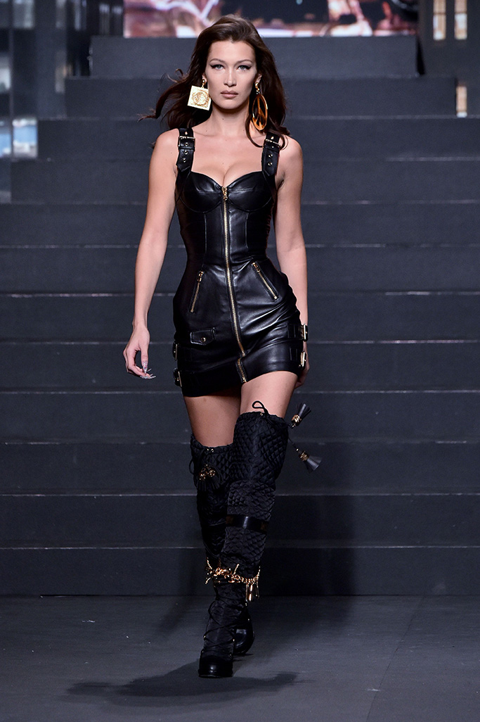 Bella Hadid Moschino x H&M show, Runway, New York, USA - 24 Oct 2018