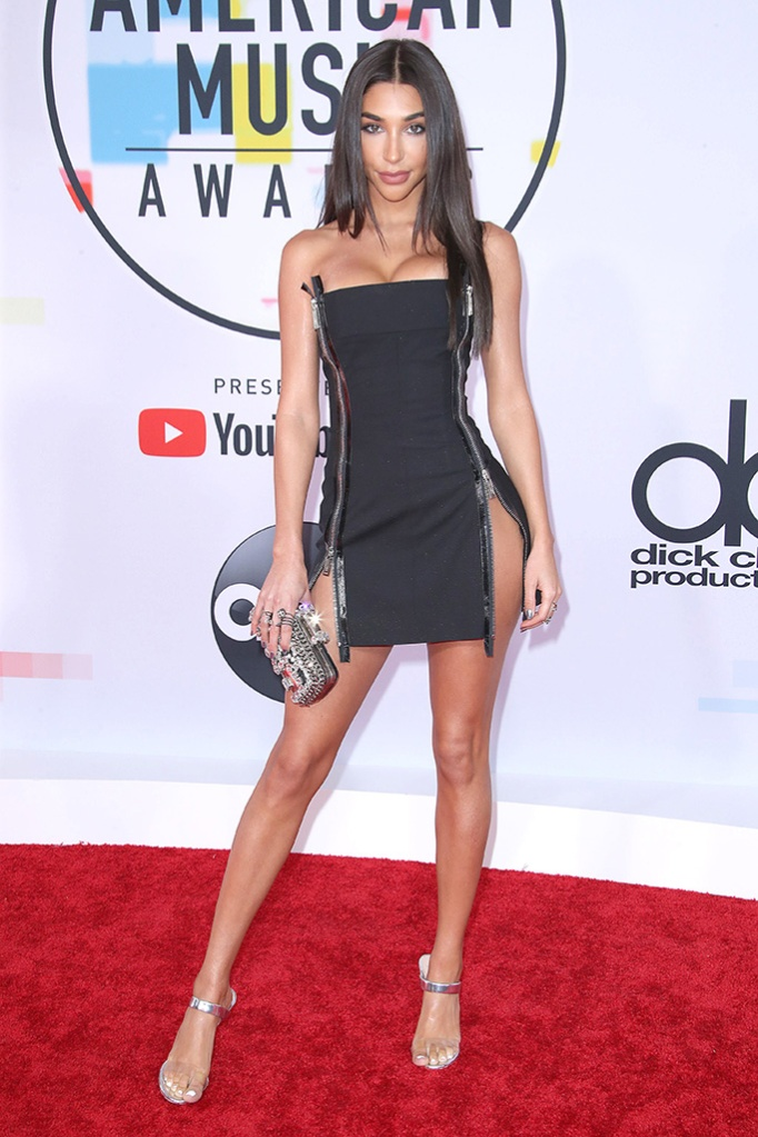 Chantel Jeffries, minidress, red carpet, American Music Awards, Arrivals, Los Angeles, USA - 09 Oct 2018