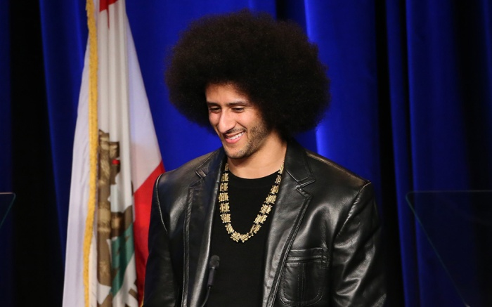 Colin Kaepernick, ACLU SoCal's Annual Bill of Rights Dinner, Inside, Los Angeles, USA - 03 Dec 2017