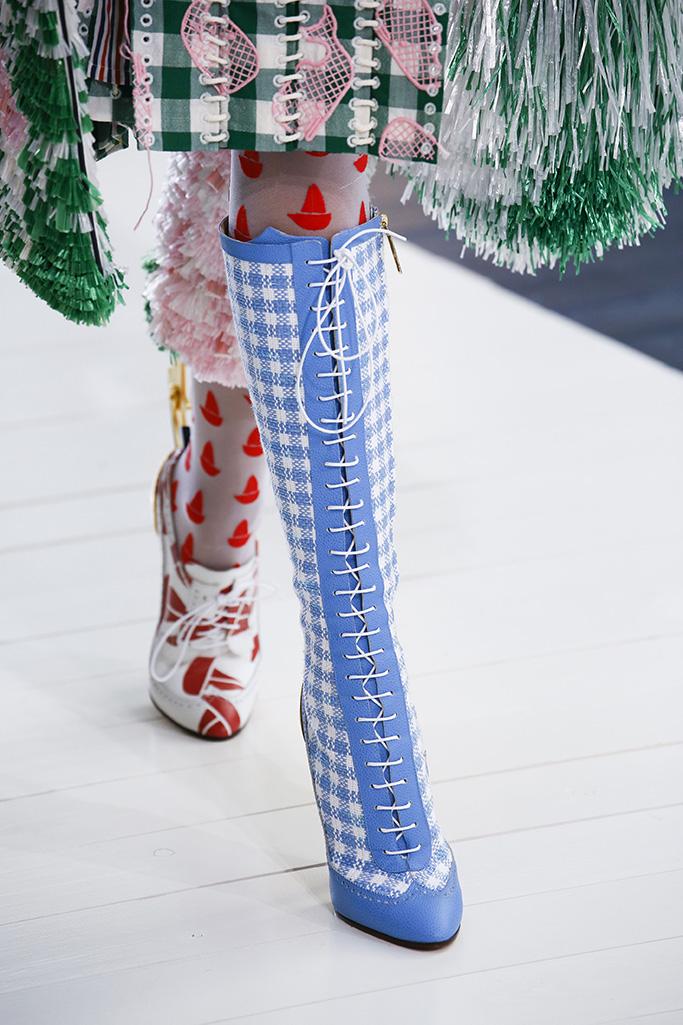 Model on the catwalk, shoe detailThom Browne show, Detail, Spring Summer 2019, Paris Fashion Week, France - 30 Sep 2018
