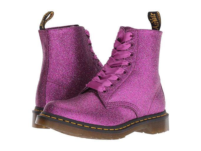Dr. Martens 1460 Pascal Glitter Core in purple multi glitter