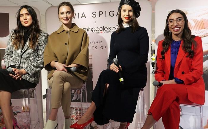 Dylana Suarez, Christi Coiffi, Marina Ingvarsson, Carolina Vazzana, via spiga, bloomindales