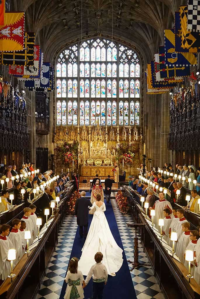 Princess Eugenie married in St. George's chapel Windsor.