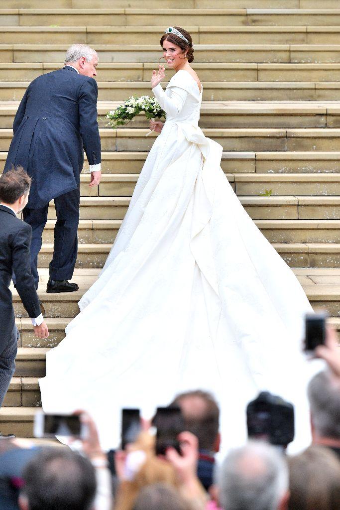 Princess Eugenie's wedding dress was by Peter Pilotto.