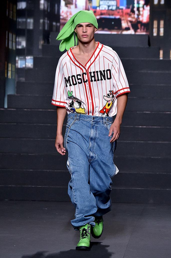 Model on the catwalk Moschino x H&M show, Runway, New York, USA - 24 Oct 2018