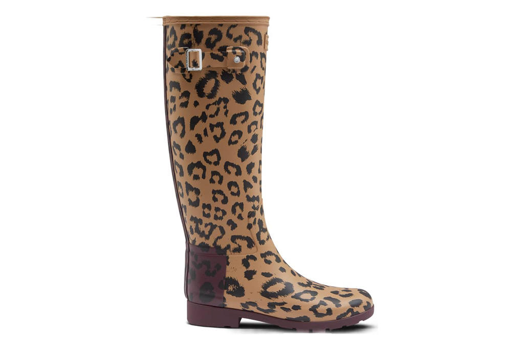 Hunter Leopard Print Rain Boot