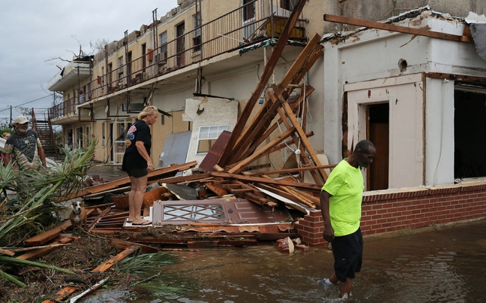 Buildings damaged by Hurricane Michael