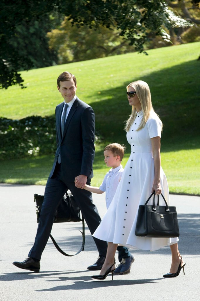 ivanka trump, emilia wickstead, dress, slingback pumps