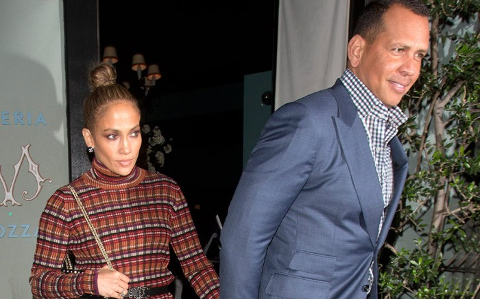 Jennifer Lopez, Alex Rodriguez, 'Osteria Mozza' Restaurant, Los Angeles