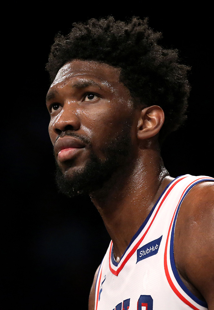 Joel Embiid Philadelphia 76ers at Brooklyn Nets, New York, USA - 31 Jan 2018Philadelphia 76ers' center Joel Embiid of Cameroon waits at the foul line during their NBA basketball game against the Brooklyn Nets' in the second half at Barclays Center in Brooklyn, New York, USA, 31 January 2018.