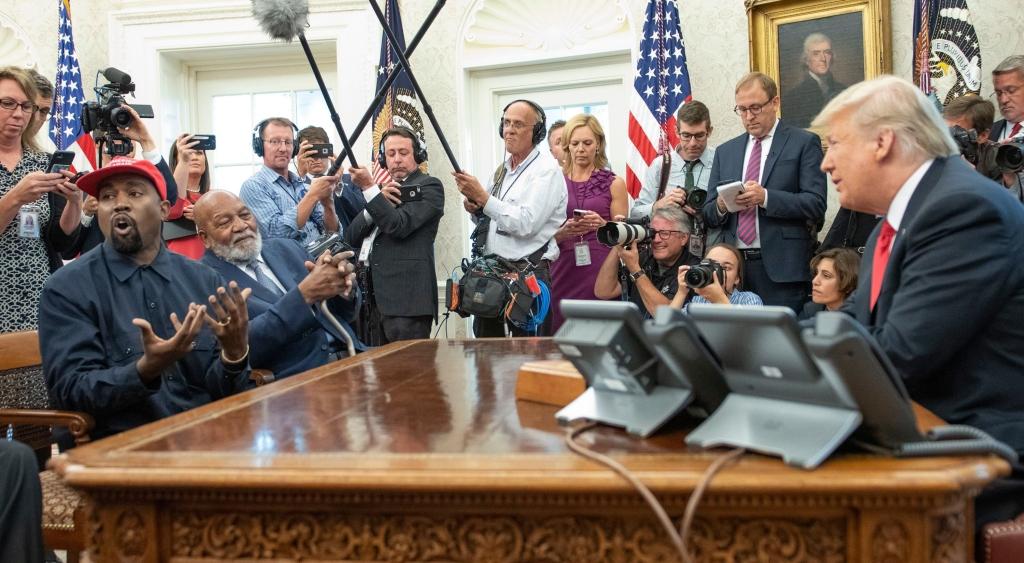 kanye west, jim brown, president donald trump, white house meeting