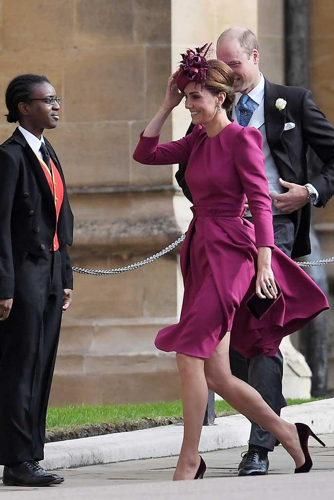 Kate Middleton wore Alexander McQueen for Princess Eugenie's wedding.