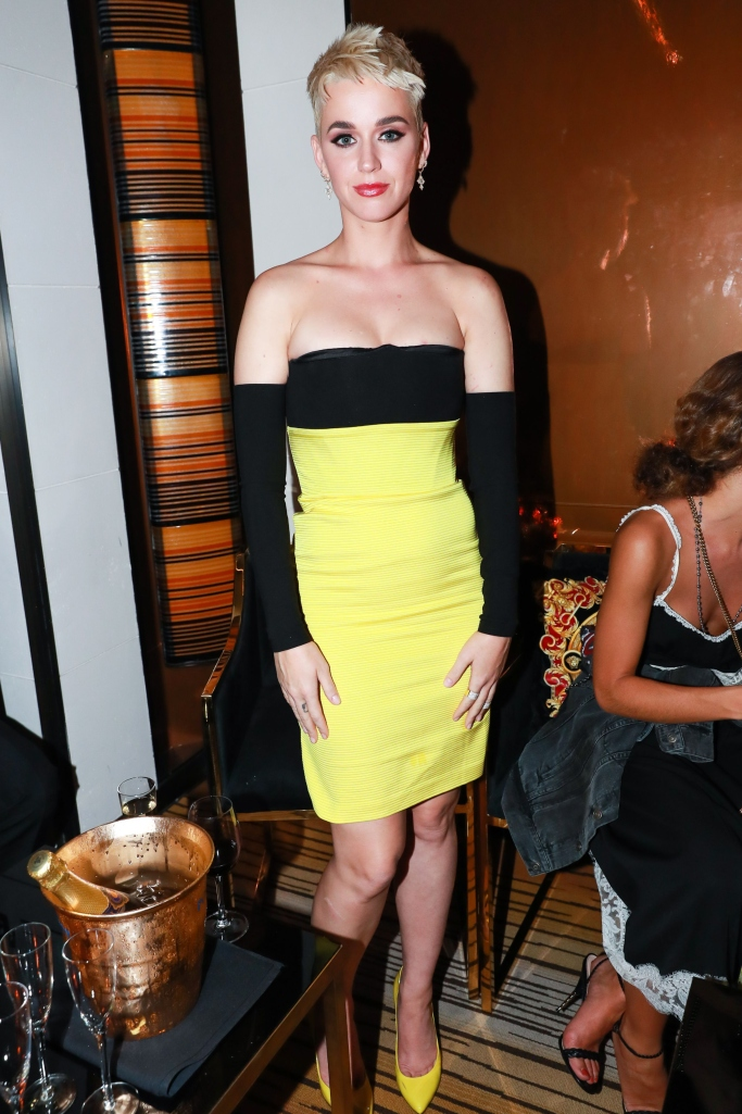 katy perry, versace met gala after party