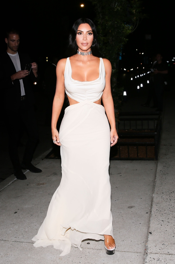 kim kardashian, Pleaser Transparent Platform Sandals