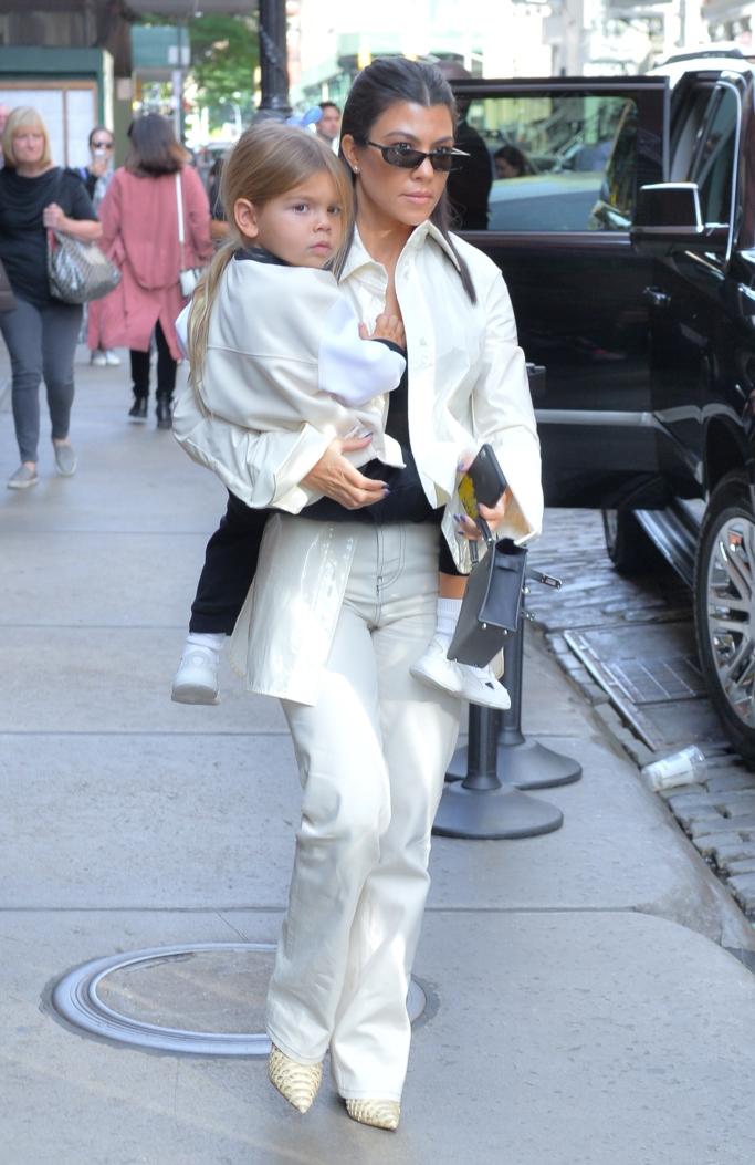 kourtney kardashian, reign disick, street style