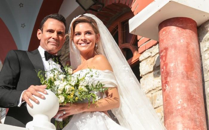 Maria Menounos, Keven Undergaro, Greek Orthodox, wedding, greece, church, wedding dress, veil