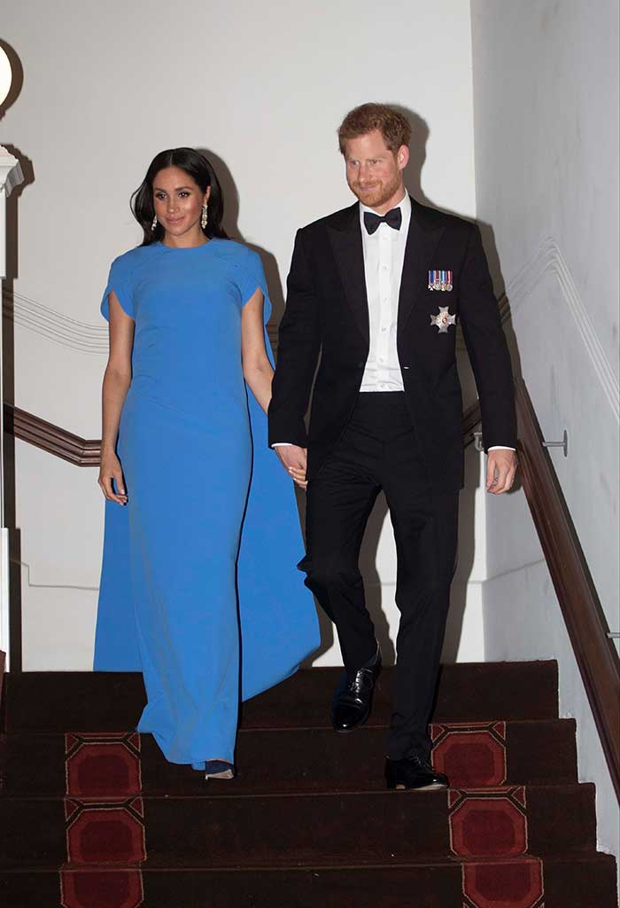 Meghan Markle attended a state dinner in Fiji wearing a dress by demi-couture label Safiyaa.