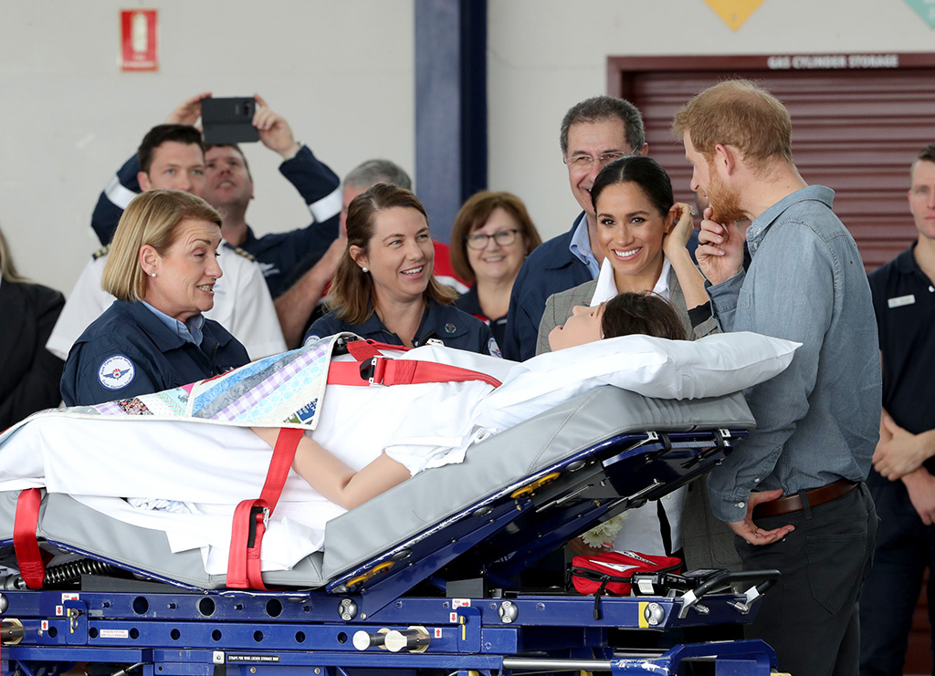 j crew boots, serena williams collection jacket, Prince Harry and Meghan Duchess of Sussex at the Royal Flying Doctor Service at Dubbo AirportPrince Harry and Meghan Duchess of Sussex tour of Australia - 17 Oct 2018