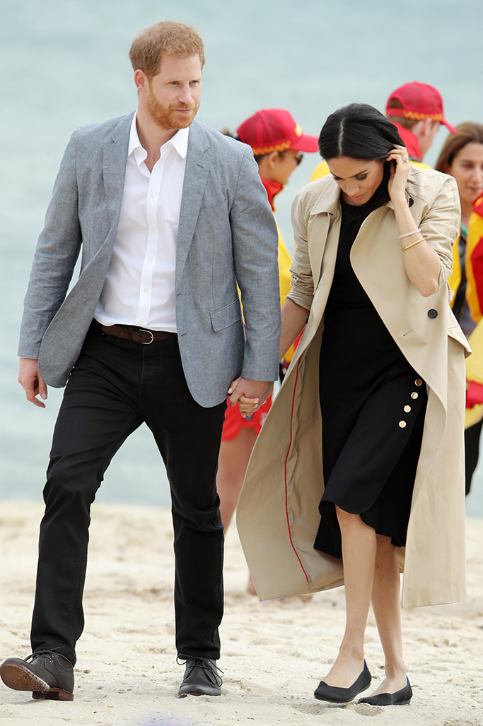 Meghan Duchess of Sussex and Prince Harry at South Melbourne BeachPrince Harry and Meghan Duchess of Sussex tour of Australia - 18 Oct 2018