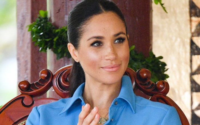 Meghan Duchess of Sussex attends the unveiling of The Queen's Commonwealth Canopy at Tupou CollegePrince Harry and Meghan Duchess of Sussex tour of Tonga - 26 Oct 2018Tupou College, which is the oldest secondary school in the Pacific, founded by a British missionary in 1866. Their Royal Highnesses will dedicate two forest reserves at the school's on-site forest, the Toloa Forest Reserve, the last remaining forest area on Tonga's main island of Tongatapu, and the Eua National Park Forest Reserve, located at the Island of Eua to The Queen's Commonwealth Canopy