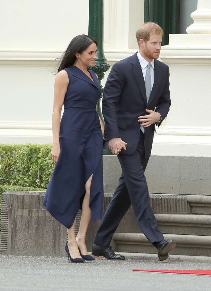 dion lee dress, Meghan Duchess of Sussex and Prince Harry at the Government House VictoriaPrince Harry and Meghan Duchess of Sussex tour of Austraila, Day 3, Melbourne - 18 Oct 2018
